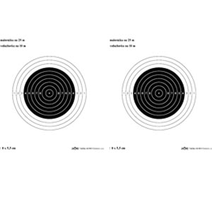 Malorážkový terč standard 12/5 – 2 ks
