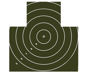 Nekrytě ležící figura s kruhy standard 25 m – 135 P