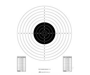 Pistolový terč 50/20, redukce na 21 m