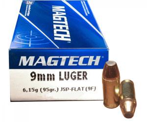 Magtech 9 mm Luger JSP FLAT (9F) 6,15g