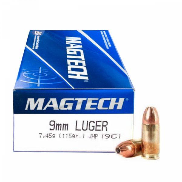 Magtech 9 mm Luger JHP (9C) 7,45g 115gr