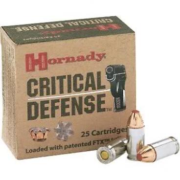 HORNADY CRITICAL DEFENSE 9mm Luger