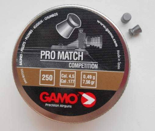 Gamo PRO-MATCH diabolky 4,5mm balení 250 ks